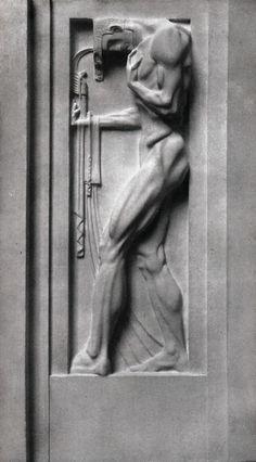 Franz Metzner (German, 1870-1919), Kunst, 1907. Relief on the Berlin Weinhaus, Bellevuestrasse.