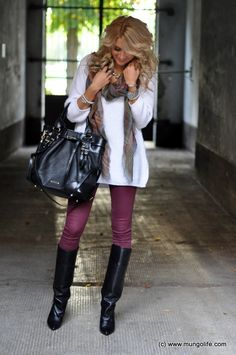 Winter style - cute love the boots and bag