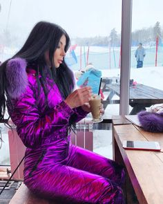 Winter Fashion Outfits, Fall Winter Outfits, Ski Outfits, Winter Clothes, Winter Suit, Winter Wear, Down Suit, Snow Outfit, Leather Jacket Outfits