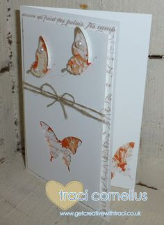 Stampin' Up! Elegant Butterfly Card by Independent Stampin' Up! demonstrator Traci Cornelius www.getcreativewithtraci.co.uk