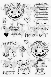 I've got two super SWEET cards to share today. Eva used our Double Trouble stamp set and a freebie digital stamp. Sister Friends, Double Trouble, Digital Stamps, Clear Stamps, Puppy Love, Paper Art, Bff, Sisters, Doodles