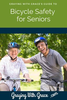 Biking is a great way to get exercise as long as you can do it safely! Bring a phone, ride in groups, and always have an exit strategy in case of injury or emergency! Read these bicycle safety tips for seniors to make bike riding a safer – and more enjoyable experience. Elderly Activities, Physical Activities, Fun Activities, Bicycle Safety, Aging Parents, Healthy Exercise, Senior Fitness, Low Impact Workout, Stay In Shape