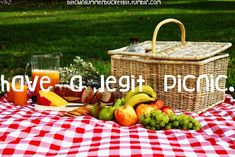 This summer...have a legit picnic--red checkered blanket and all! #summerbucketlist #summerfun