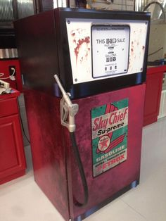 Vintage Gas Pump Texaco refrigerator wrap Every order is custom size to fit the product that your going to wrap. You get a Squeegee and blade with every order Refrigerator wraps - Rm wraps Key feature Refrigerator Wraps, Vintage Refrigerator, Mini Fridge, Vintage Fridge, White Refrigerator, Old Gas Pumps, Vintage Gas Pumps, Vintage Auto, Vintage Stuff