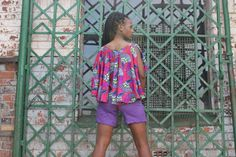 A sassy Jurema Designs flary top and Short in any african print and purple linen. Southern Prep, African, Purple, Lady, Tops, Design, Style, Fashion, Swag