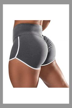 Franterd Plus Size Women's Workout Shorts Scrunch Booty Gym Yoga Pants Middle/High Waist Butt Lifting Sports Leggings Gray #gray