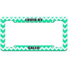Loved By Female Names - Callie - Plastic License Plate Frame