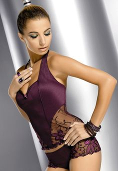 Wow.... gorgeous Purple Sheer Lace Lingerie Set. Love the subtle textures.