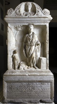 T. Statilius Aper's ara with writing tools    Funerary monument and ornaments    Hadrianic period (117-138 AD)     Marble                                                                                                      T. Statilius Aper's ara with writing tools
