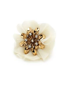 CHARLOTTE RUSSE: Mystic Flower Stretch Ring [Gold] $4.00