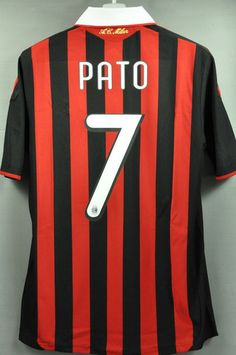 AC Milan Pato Home Jersey Shirt Replica 2010 Italy Series A with Original Official name and number PATO # 7 – Nice Day Sports