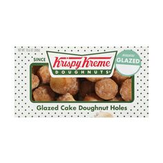 Krispy Kreme Doughnuts Glazed Cake Doughnut Holes, 10.6 oz ($50) ❤ liked on Polyvore featuring food, food and drink, food // drinks, food & drink and filler