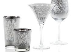 Z Gallerie - Puccini Glassware - Silver Set of 4