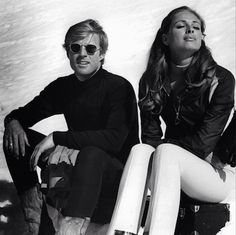 Sunglasses & girl - Robert Redford