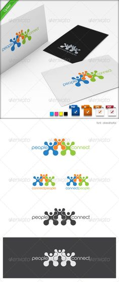 Connect People Logo Template #GraphicRiver Connect People Logo Template (Updated 11.27.2012) It is an excellent logo in vector format. Ideal for any activity which uses human interaction. For example: Social networking, various community groups, clubs, family, and so on… You can easily change the text. You can freely experiment with color. You can easily place this logo on your business card and printing – it's ready to print. You can easily place it on web page. What's new (update…