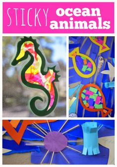 Toddler Approved!: Sticky Ocean Animals