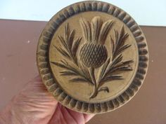 19th century Thistle Butter Print