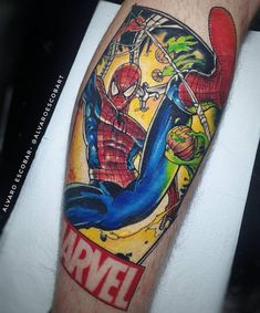 Tatuagem colorida: Joga mais cor que está pouco! - Blog Tattoo2me Superhero, Tattoos, Artwork, Tattoo Ideas, Blog, Sword Tattoo, First Tattoo, Color Tattoo, Colourful Art