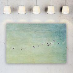 """Leinwand 90 x 60 cm """"Reisefieber""""  Traumhaft schöne Fine Art Fotografie,  aufgenommen auf dem Darß  gestaltet in herrlich sanften Pastellfarben und behutsam mit Texturen..."""