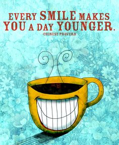 Peel away the days to a younger you! Smile, laugh, love, drink coffee! Happy Wednesday!  Cheers.