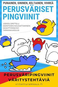 Peruväripingviinit - Viitottu Rakkaus Disney Characters, Fictional Characters, Snoopy, Teaching, Math, Children, Montessori Activities, Young Children