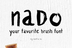 The shabby-chic style of nado brush font, is ideal for social media quotes, blog headers, posters, art projects,branding, packaging, and logotypes.