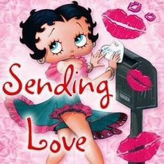 Valentine's Day Quotes : QUOTATION - Image : Quotes Of the day - Description Find the perfect gift you been looking for right here at Avon. Imagenes Betty Boop, Betty Boop Tattoos, Black Betty Boop, Boop Gif, Betty Boop Pictures, Up Girl, Happy Valentines Day, Cartoon Characters, Illustrations Posters