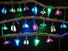 Sea glass fairy lights!  These would look magical in my garden/bedroom/anywhere.