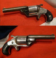 Rare US Civil War Moore's Patent 32 Cal. 'Teat Fire' Revolver.