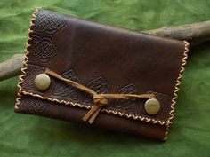 Leather Pouch - Celtic Myths OOAK