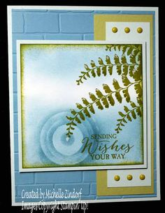Lovely Fern – Stampin' Up! Card created by Michelle Zindorf - Butterfly Basic Stamp Set