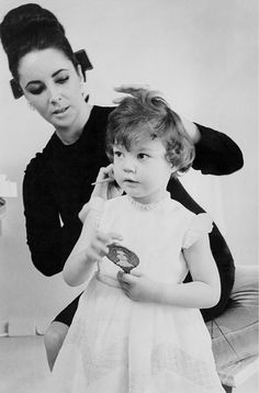 Elizabeth Taylor and her daughter Maria .....Uploaded By www.1stand2ndtimearound.etsy.com