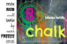 Teaching 2 and 3 Year Olds: Kids Chalk Activities