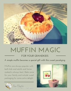 Create muffin magic with cherry coconut muffins and free downloadable cherry box and muffin bag label.