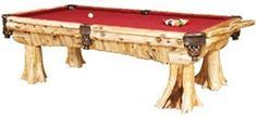 Rustic pool table so cool!