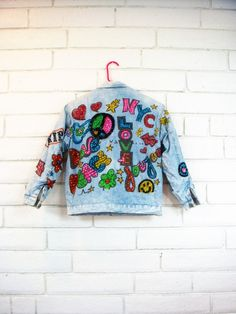 Frank Scozzese Denim Jacket 80s Pop Art Vintage By