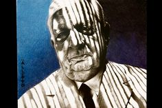 Portrait of Giorgio de Chirico  (pencil and pastel on paper)
