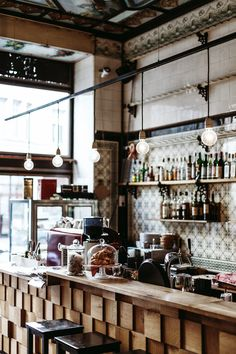 Fleischerei Coffee, Leipzig, Germany - Daniel Farò Love the siding on the front counter