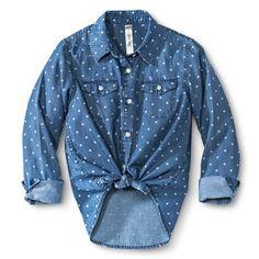 Girls' Polka Dot Buttondown Shirt