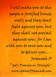 quotes and images of God's promises for our lives | God's Promise Of Strength