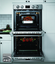 The tough thing about the new Kenmore PRO Double Wall ovens, will be picking which one is your favorite oven. Top, or bottom?