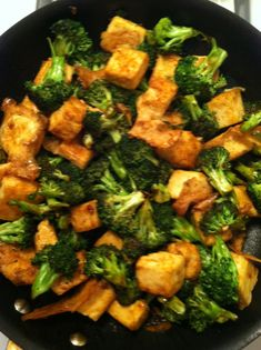 Mongolian Tofu. I really like this! I also added 8 oz of mushrooms because I love mushrooms!
