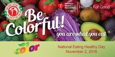 American Heart Association's National Eating Healthy Day is Urging You to Be Colorful, Live Healthy