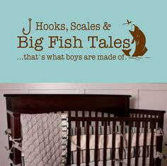 Big Fish Tales that's what boys are made of Vinyl by landbgraphics, $14.00