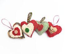 Decorations for Valentine 4 felt decorative