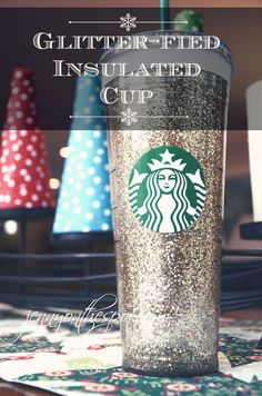 Glitter-fied Insulated Cup via @Jenny On The Spot