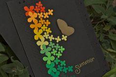 summer handmade greeting card with coordinating by debbiehartman