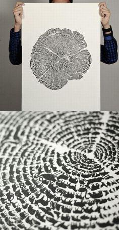 Tree Ring Animals #graphicdesign