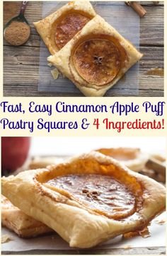 A fast and easy 4 ingredient Fall Dessert Recipe, Cinnamon Apple Puff Pastry Squares. Eaten warm from the oven makes these Puffs the Perfect Treat.