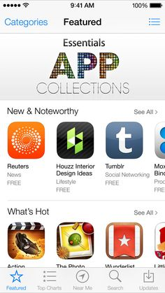 iOS 7 App Store Ios 7 Design, Apple Launch, App Store, Social Networks, Product Launch, Apps, Gallery, Image, App